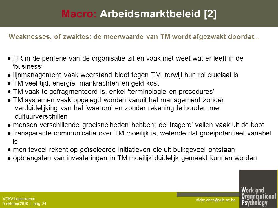 Macro: Arbeidsmarktbeleid [2]